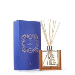 February Zodiac Reed Diffuser - Amethyst Gemstones with Aquarius & Pisces Zodiac Pendant ATGW 20cts