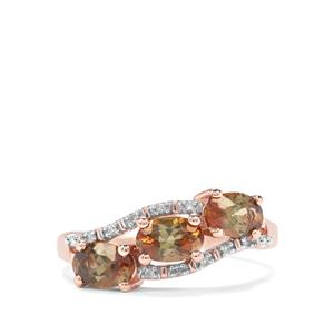 Sopa Andalusite & Diamond 9K Rose Gold Ring ATGW 1.35cts