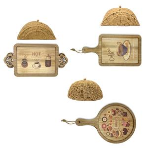 Woven Wicker Cloche and Tray - Choice of Shape