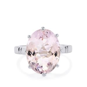 Rose De France Amethyst Ring in Sterling Silver 8.24cts