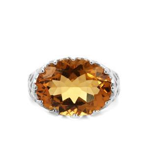 8.35ct Honey Quartz Sterling Silver Ring