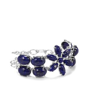 Sar-i-Sang Lapis Lazuli Bracelet in Sterling Silver 64.91cts