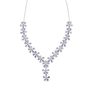 13.63ct Tanzanite Sterling Silver Necklace