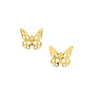 Butterfly Earrings in Gold Plated Sterling Silver