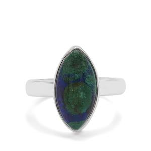4.68ct Azure Malachite Sterling Silver Aryonna Ring