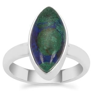 Azure Malachite Ring in Sterling Silver 4.68cts