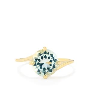 2.36ct Espirito Santo Aquamarine 10K Gold Ring