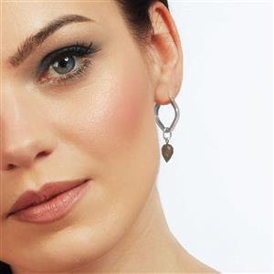 Molte Geo Hoop Earrings in Sterling Silver