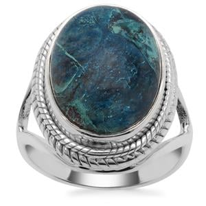 Namibian Shattuckite Ring in Sterling Silver 9cts