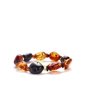 Baltic Cognac, Champagne & Cherry Amber Stretchable Bracelet