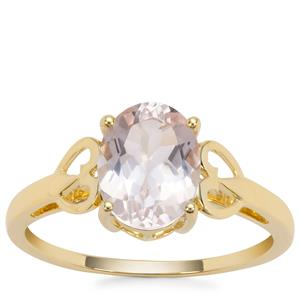 Alto Ligonha Morganite Ring in 9K Gold 1.60cts