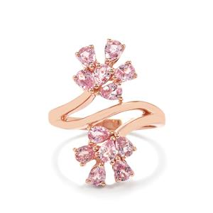 Sakaraha Pink Sapphire Ring in Rose Gold Vermeil 2.17cts