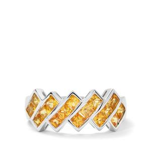 1.87cts Yellow Sapphire Sterling Silver Ring