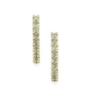 0.45ct Alexandrite 10K Gold Earrings