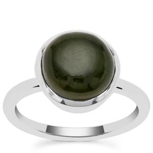 Nephrite Jade Ring in Sterling Silver 4.80cts