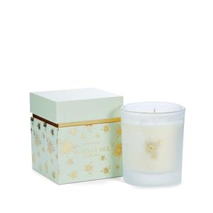 Bumble Bee Candle, Honeysuckle Fragrance with Citrine & Black Onyx ATGW 6ct