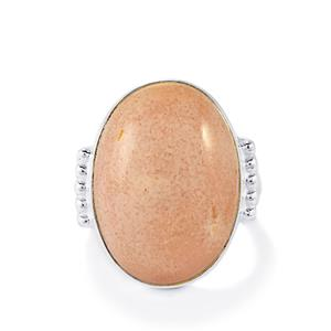 11ct Australian Pink Opal Sterling Silver Aryonna Ring