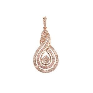 Pink Diamond Pendant in 10K Rose Gold 1.25ct