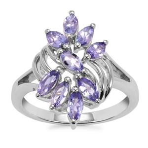 Tanzanite Ring in Sterling Silver 1.22cts