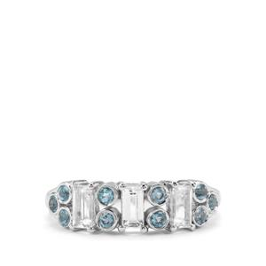 Marambaia London Blue & White Topaz Sterling Silver Ring ATGW 1.31cts