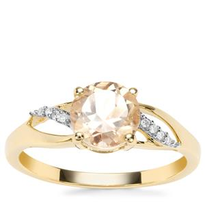 Serenite Ring with Diamond in 9K Gold 1.22cts