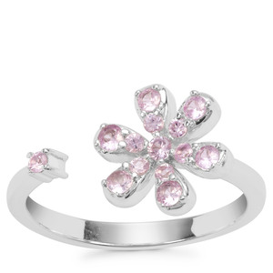Sakaraha Pink Sapphire Ring in Sterling Silver 0.43ct