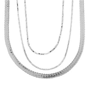 Sterling Silver Set of 3 Chains 6.45g