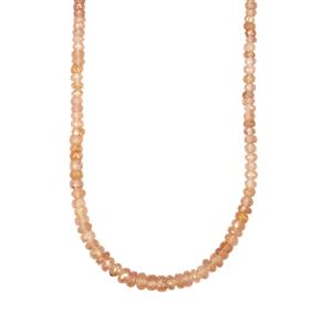78ct Tanga Zircon Sterling Silver Bead Necklace