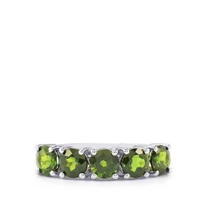 Chrome Diopside Ring in Sterling Silver 2.08cts
