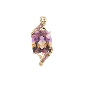 Anahi Ametrine Pendant with Zambian Amethyst in 9K Gold 4.83cts