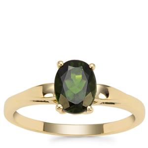 Chrome Diopside Ring in 9K Gold 1.37cts