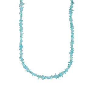 450ct Madagascan Apatite Nuggets Bead Necklace