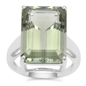 Montezuma Prasiolite Ring in Sterling Silver 16.27cts