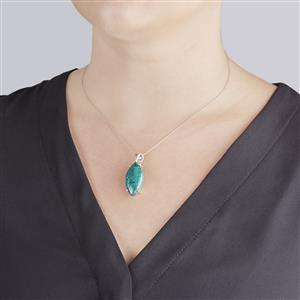 Chrysocolla Pendant in Sterling Silver 20cts