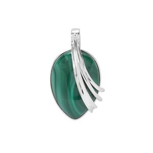Malachite Pendant in Sterling Silver 32.50cts