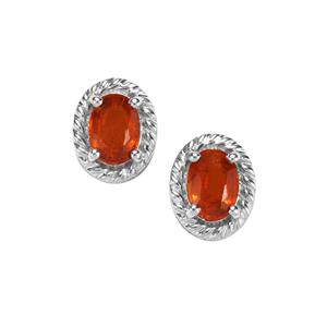 Loliondo Orange Kyanite Earrings in Sterling Silver 1.94cts