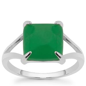 Chrysoprase Ring in Sterling Silver 3.50cts