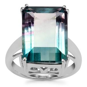 Zebra Fluorite Ring in Sterling Silver 15.14cts