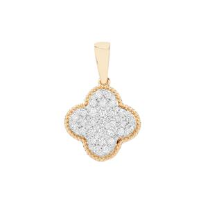 Diamond Pendant in 18K Gold 0.50ct