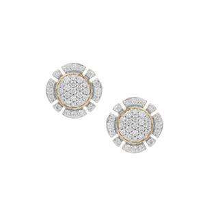 Argyle Diamond Earrings in 9K Gold 0.38ct