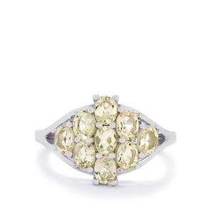 1.56ct Zambezia Morganite Sterling Silver Ring