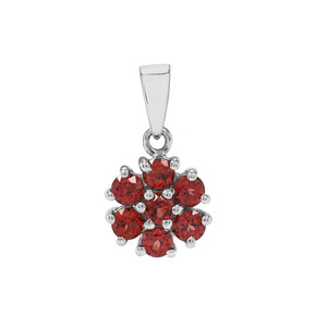 Nampula Garnet Pendant in Sterling Silver 0.97ct