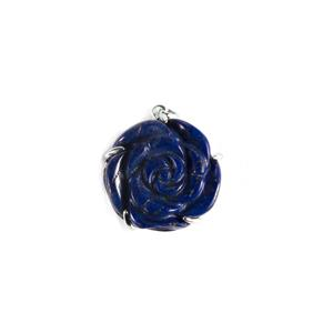 Lapis Lazuli Pendant in Sterling Silver 39.70cts