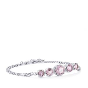 Rose De France Amethyst Bracelet in Sterling Silver 4.45cts
