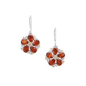 Loliondo Orange Kyanite & Diamantina Citrine Sterling Silver Earrings ATGW 5.91cts