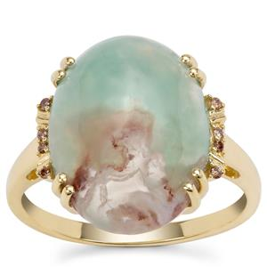 Aquaprase™ Ring with Champagne Diamond in 9K Gold 6.48cts
