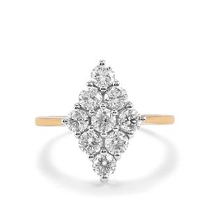 Diamond Ring  in 18K Gold 1.70ct