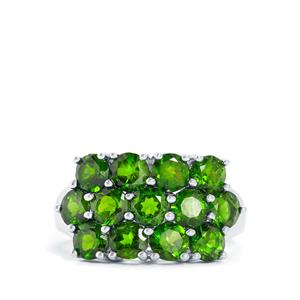 3.73cts Chrome Diopside Sterling Silver Ring