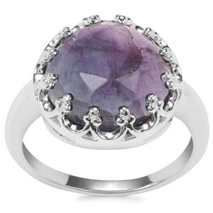 Argentine Rainbow Fluorite Ring in Sterling Silver 8.19cts