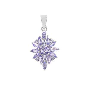 Tanzanite Pendant in Sterling Silver 2cts